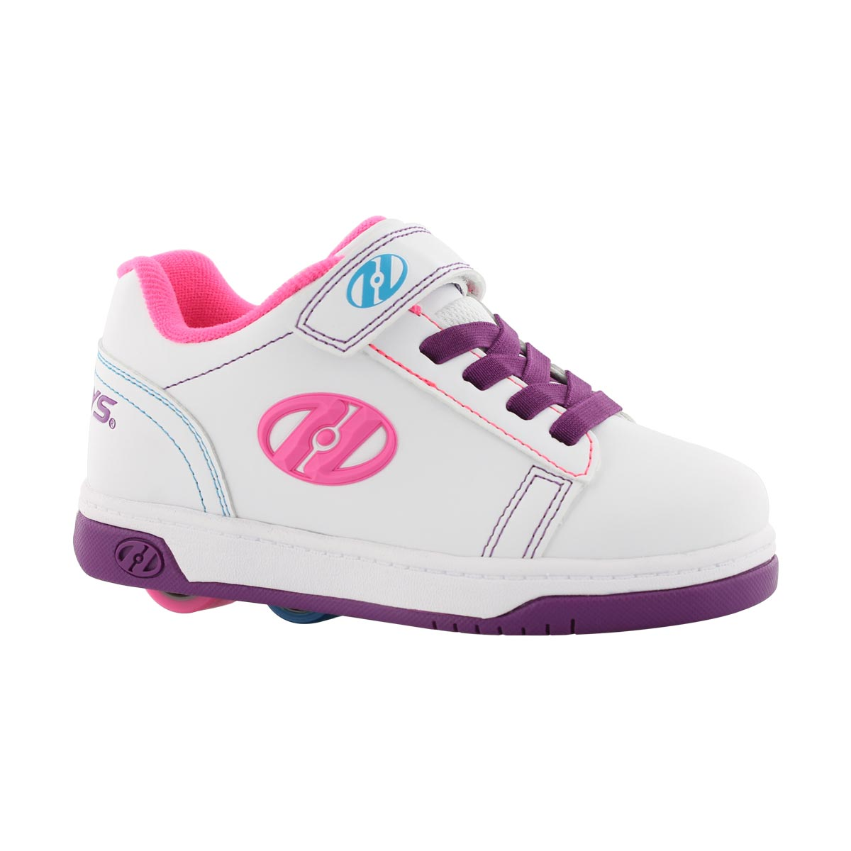 Girls' DUAL UP X2 wht/ppl/pk skate sneakers