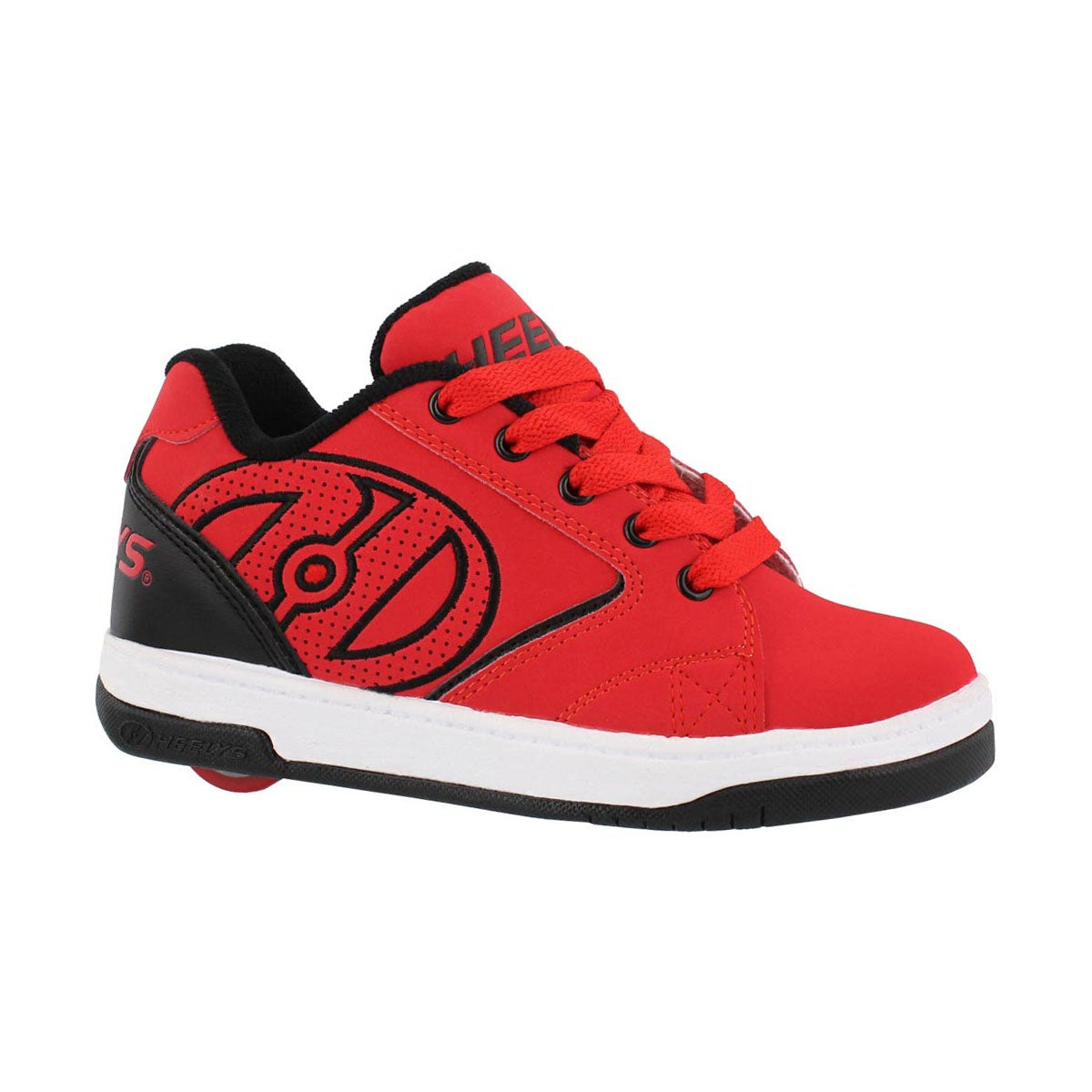 Boys' PROPEL 2.0 blk/red/wht skate sneakers