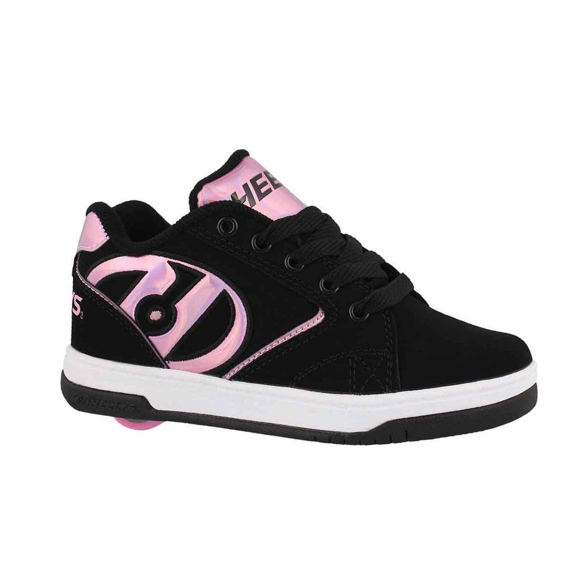 Grls Propel 2.0 bk/pnk/gas skate sneaker