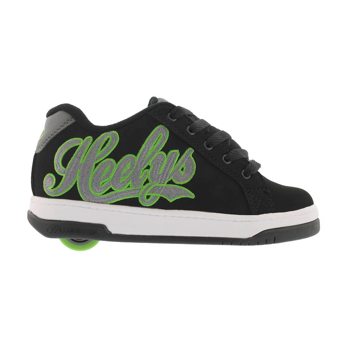 Bys Split blk/char/green skate sneaker