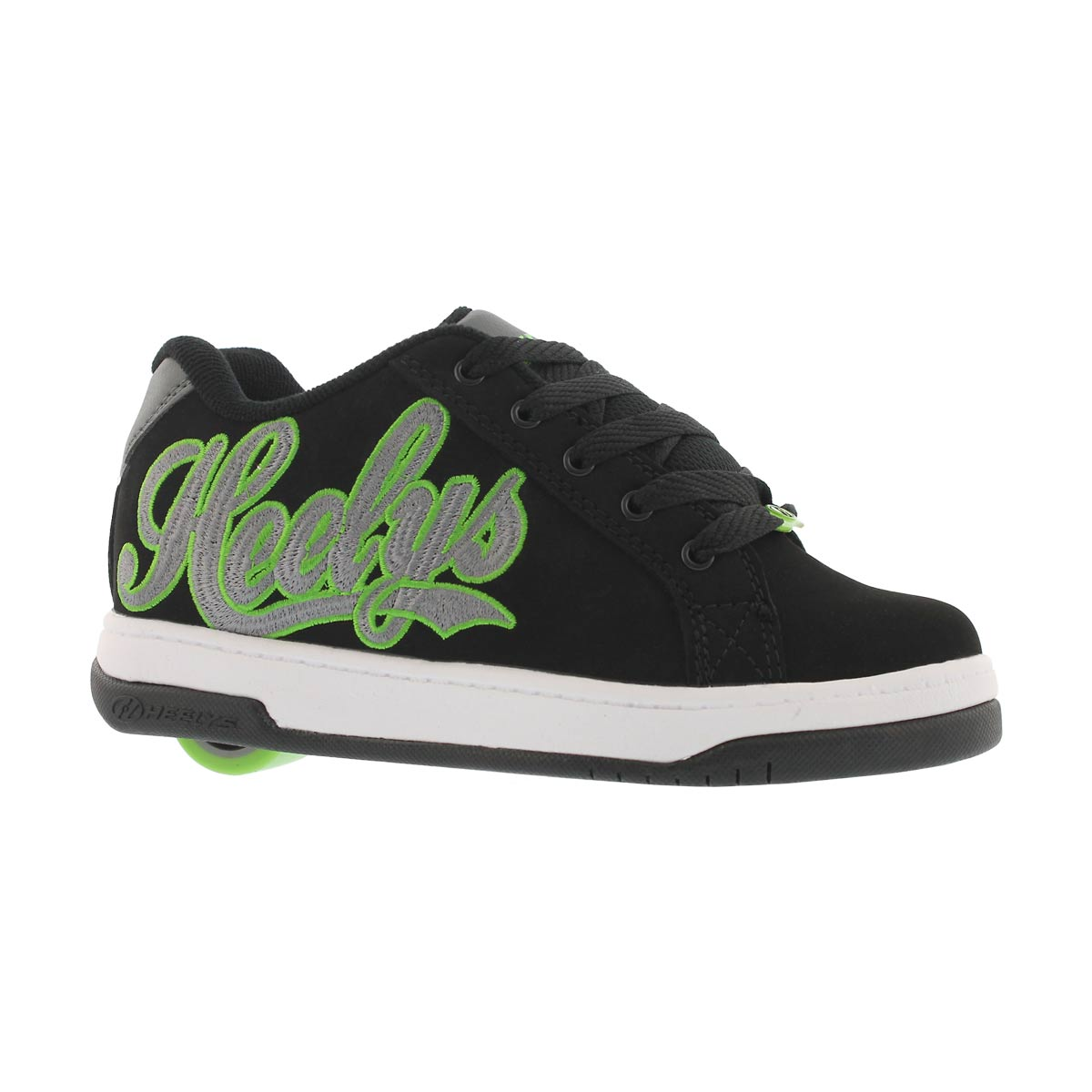Boys' SPLIT black/charcoal /green skate sneakers