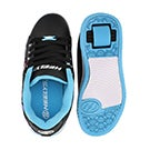 Grls Split blk/aqua/peace skate sneaker