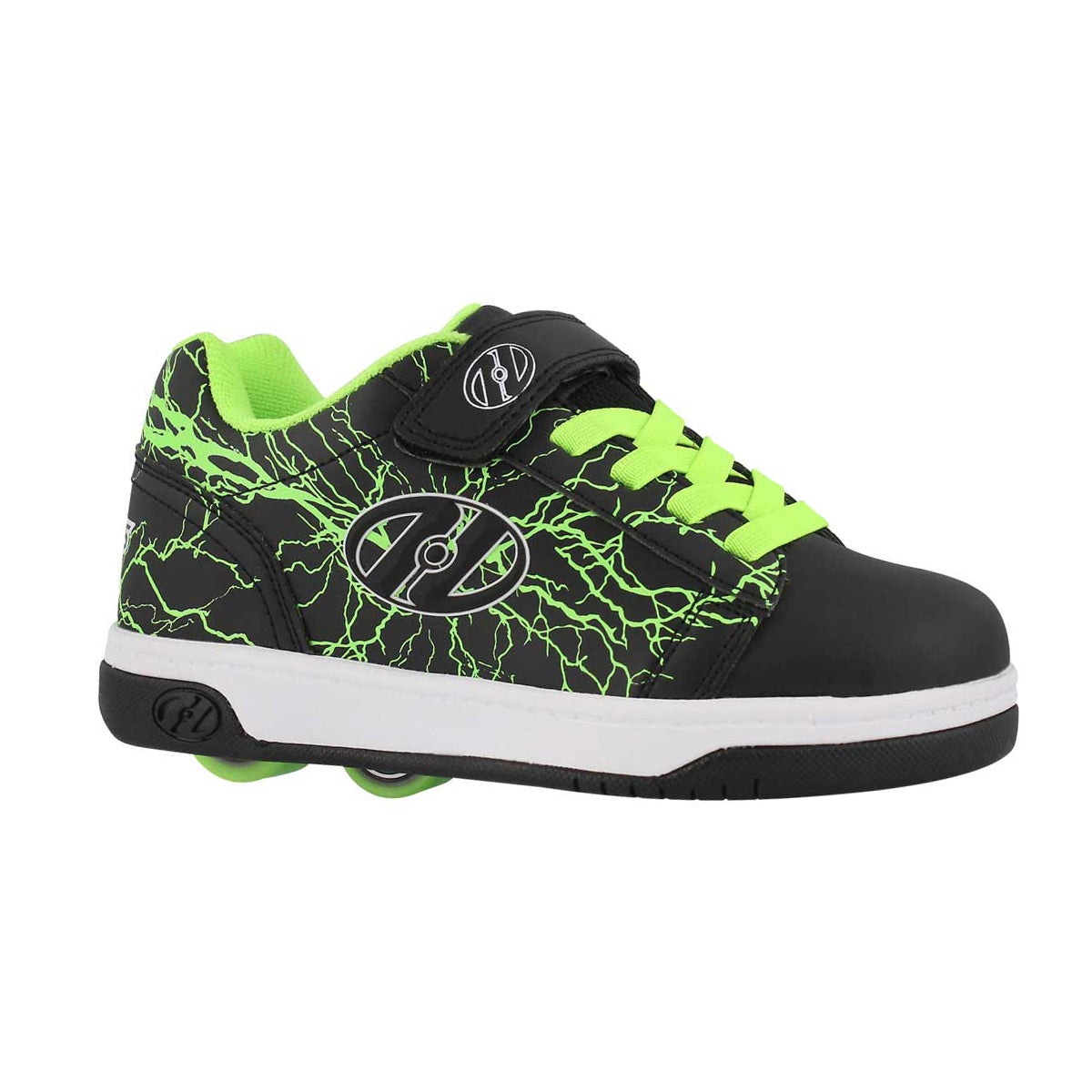 Boys' DUAL UP x2 black/yellow skate sneakers