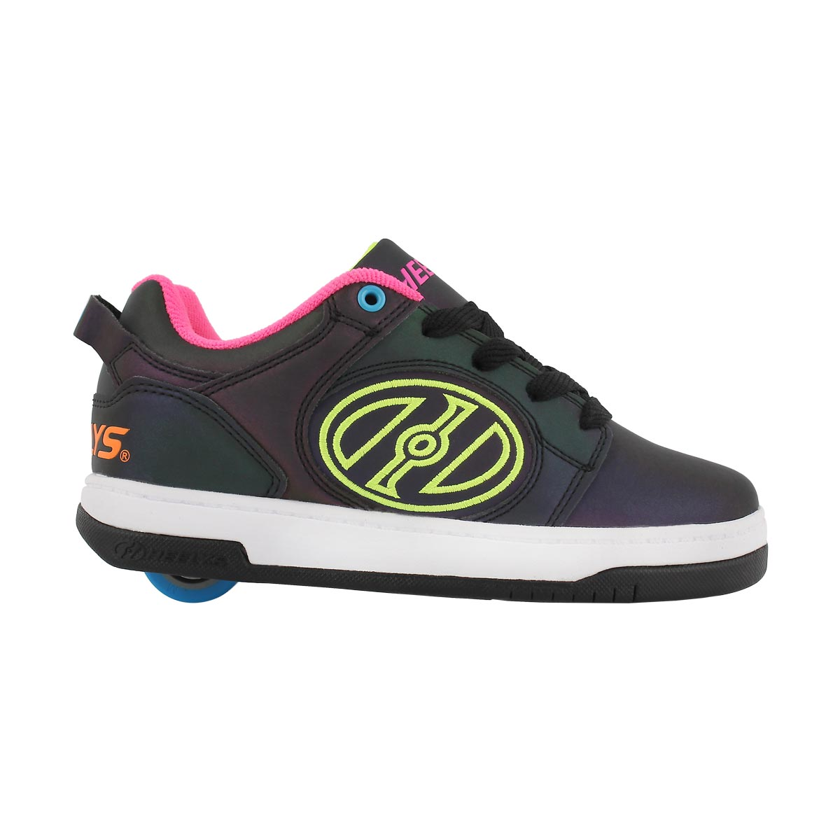 Grls Voyager blk/ylw/pnk skate sneaker
