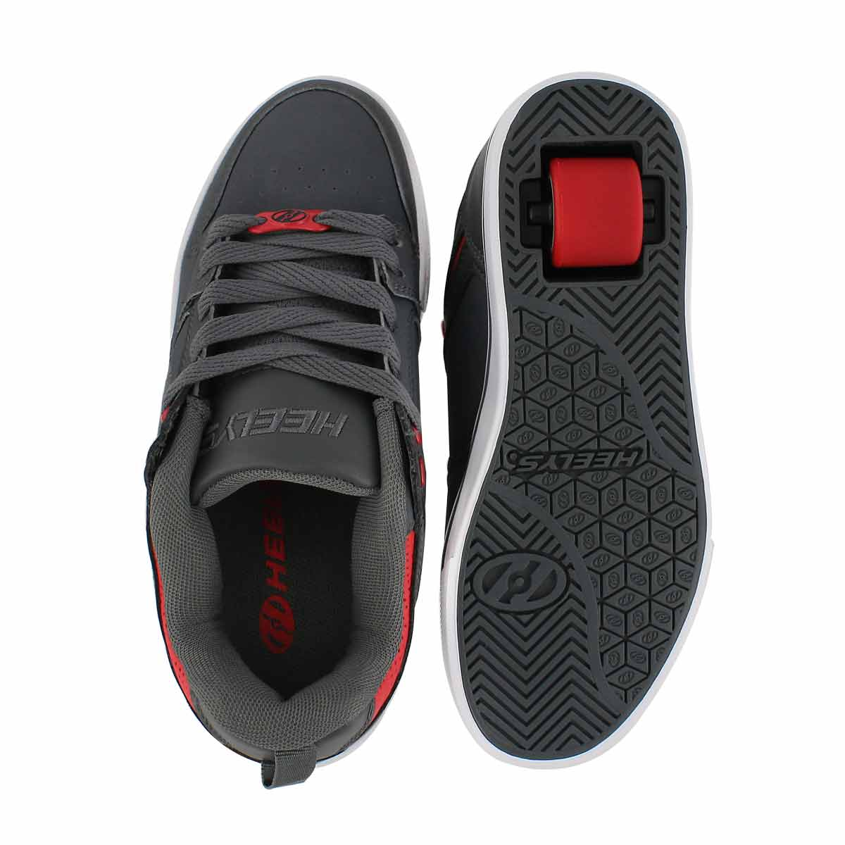 Bys Motion 2.0 char/red skate sneaker