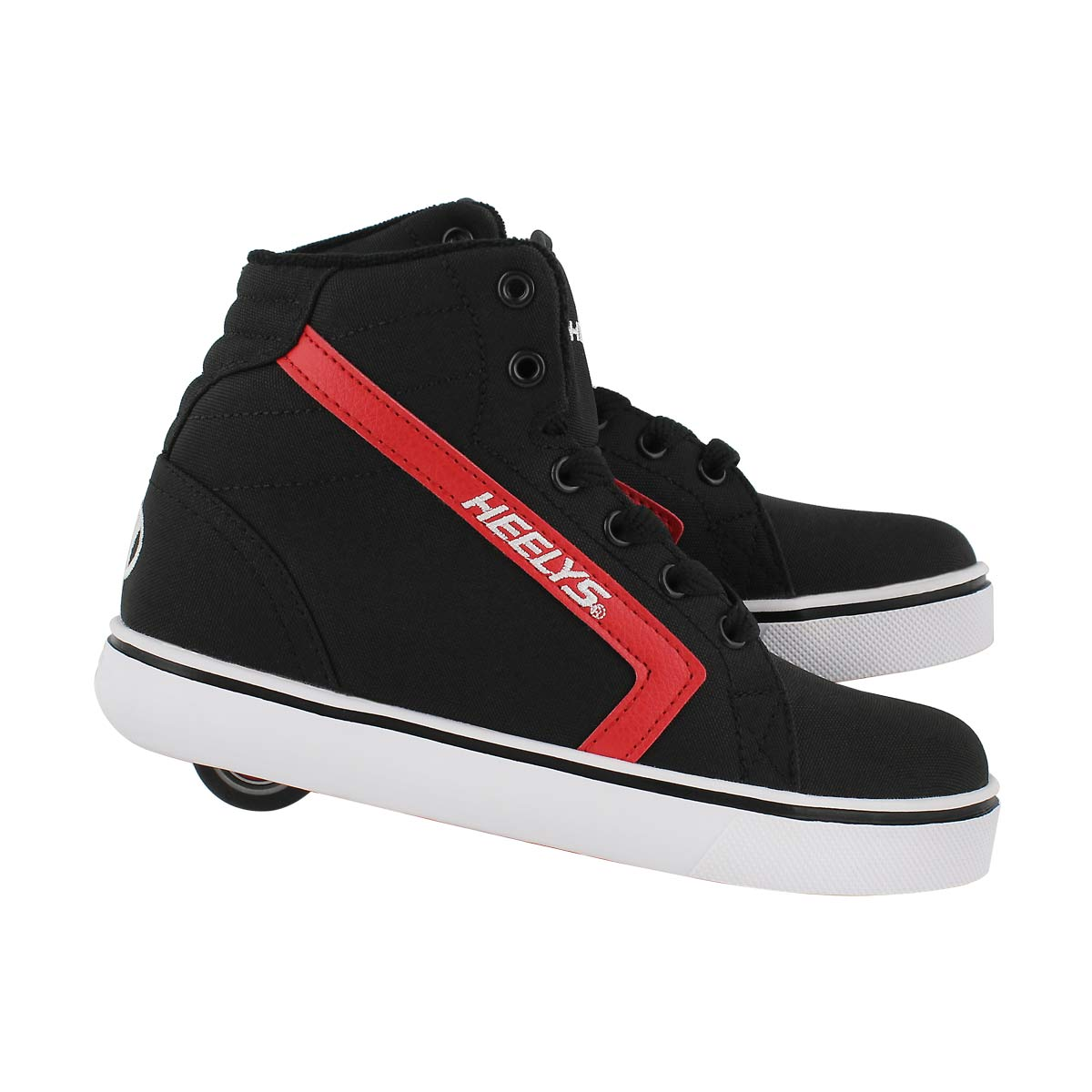 Bys Gr8r Hi blk/red skate sneaker