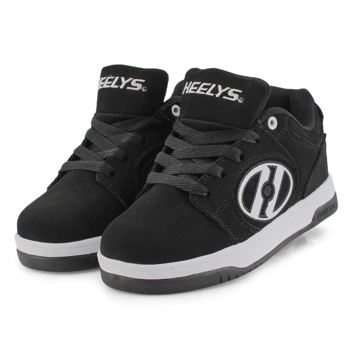 Bys Voyager blk/wht laceup skate snkr