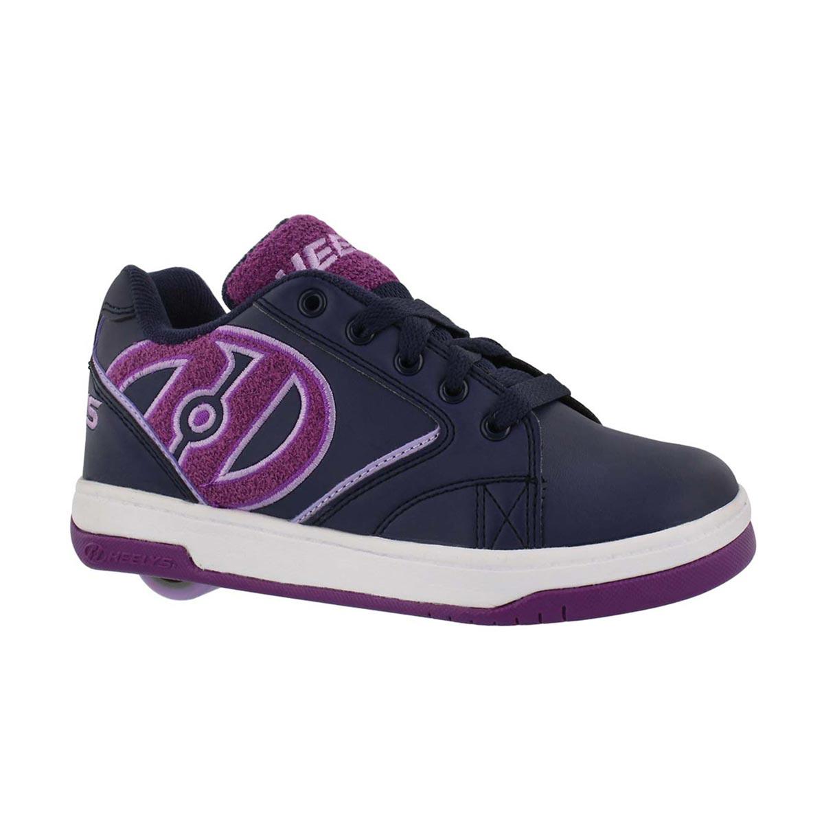 Girls' PROPEL TERRY navy/purple skate sneakers