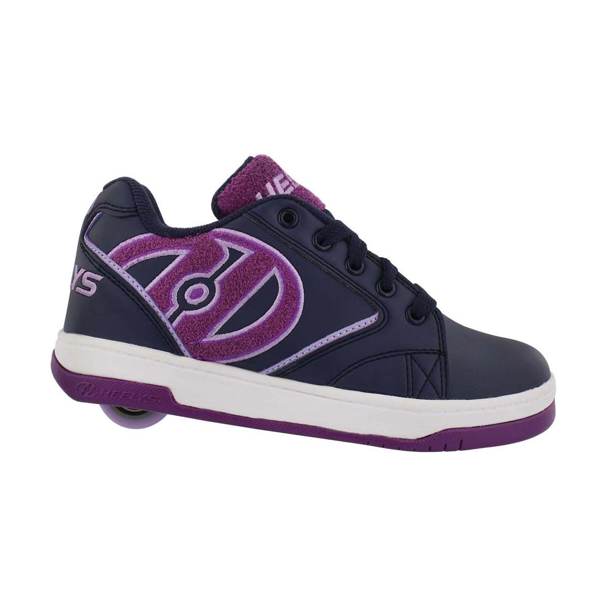 Grls Propel Terry nvy/ppl skate sneaker