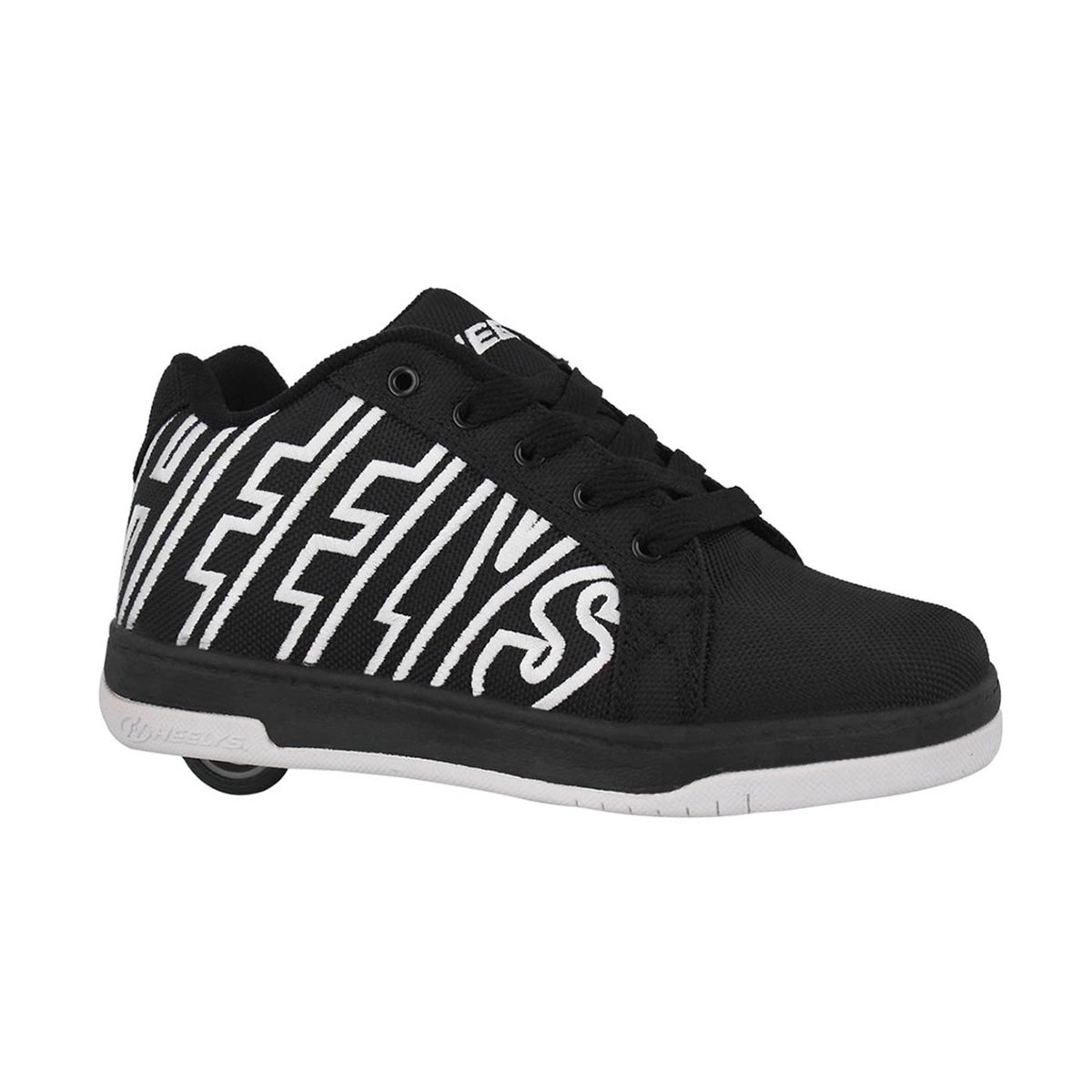 Boys' SPLIT black/white skate sneakers