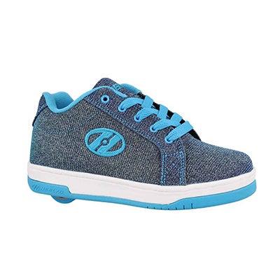 Grls Split pewter blue skate sneaker