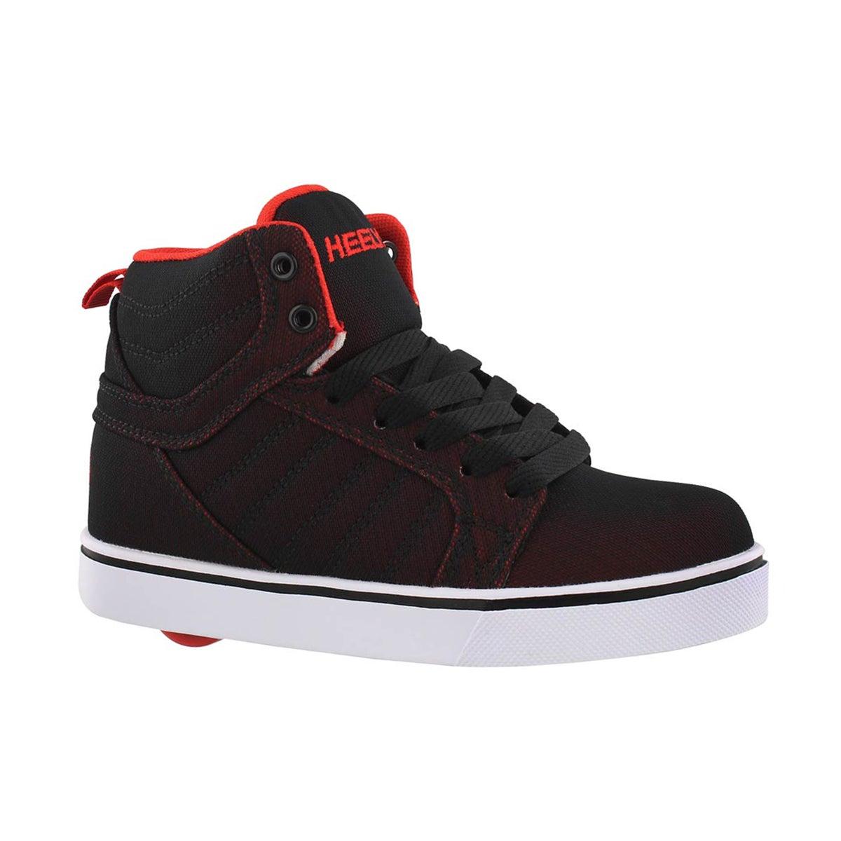Boys' UPTOWN black/red hit top skate sneakers