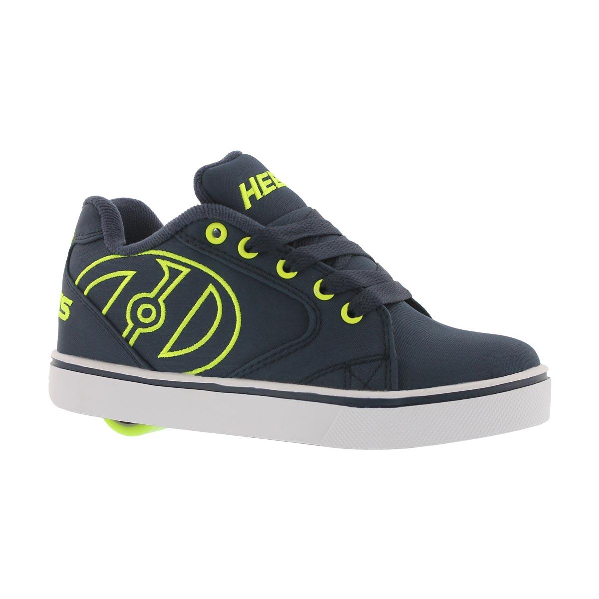Boys Vopel Navy Bright Yellow Skate Sneakers