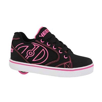Grls Vopel blk/pnk/wht skate sneaker