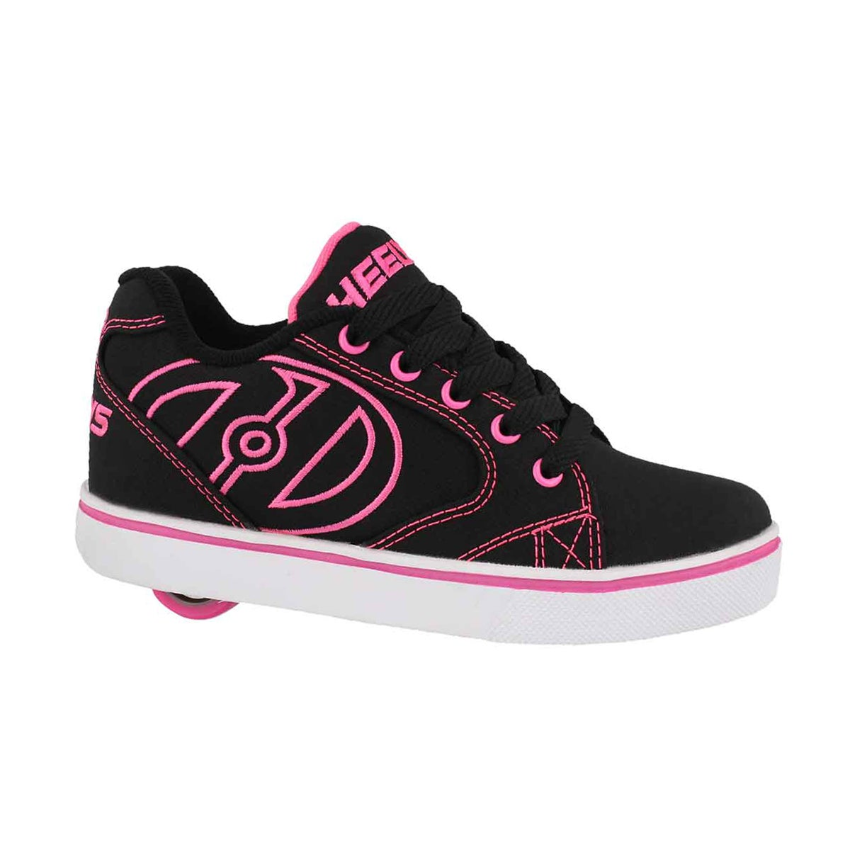 Girls' VOPEL blk/pnk/wht skate sneakers