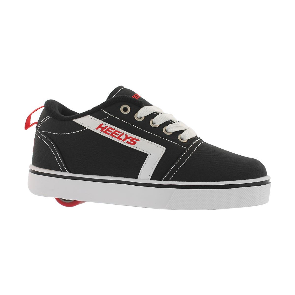 Boys' GR8 PRO black/white/red skate sneakers