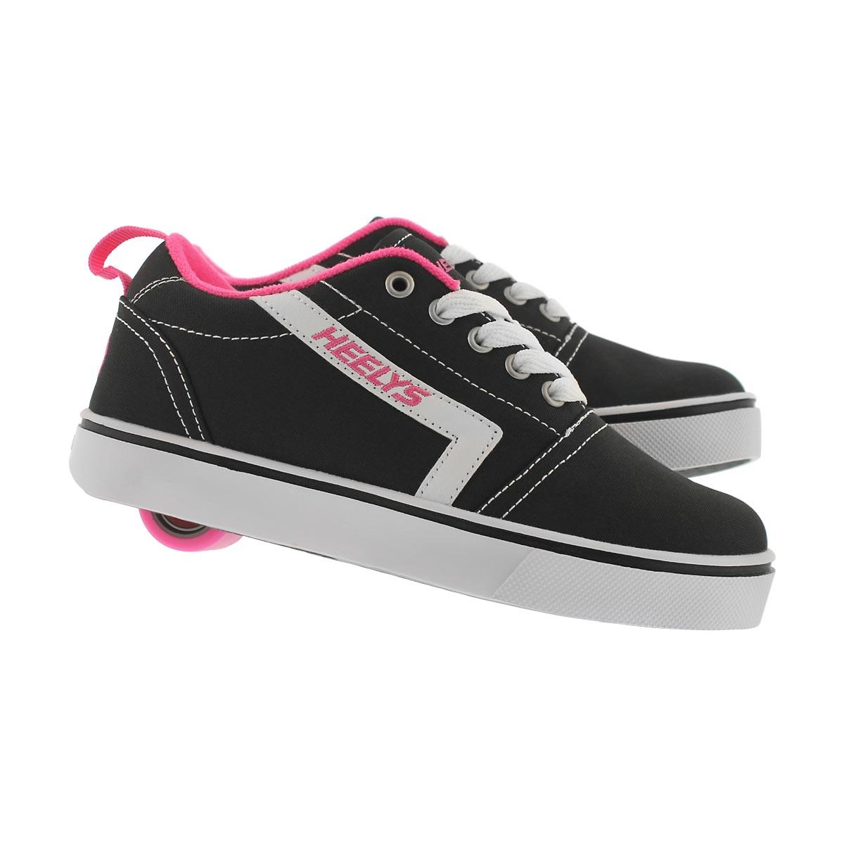 Grls Gr8 Pro blk/wht/pnk skate sneaker