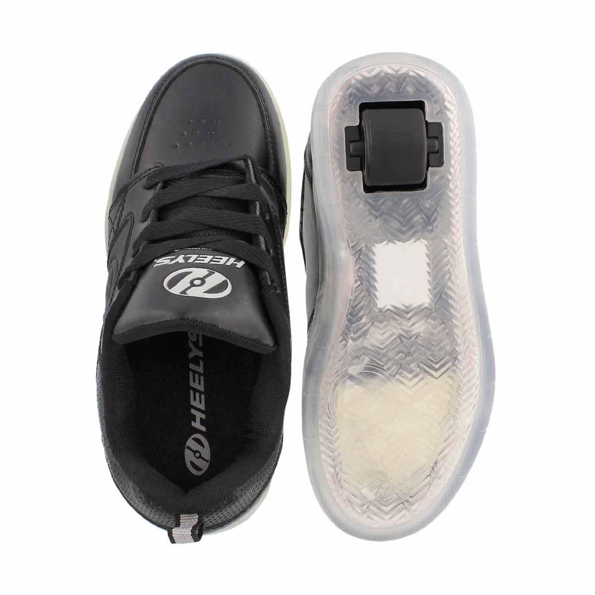Kds Premium 1 Lo blk light up skate snkr