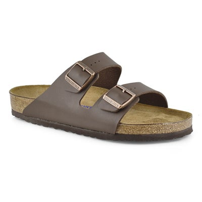 Birkenstock Mens'  ARIZONA SF brown 2 strap sandals