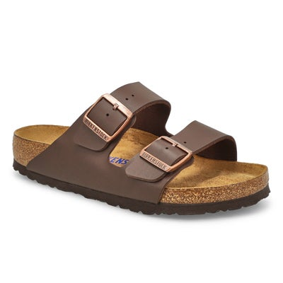 Birkenstock Women's ARIZONA SF dark brown 2 strap sandal