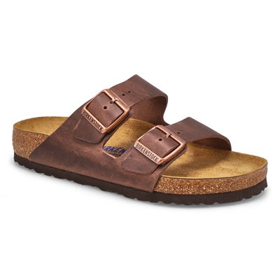 Birkenstock Women's ARIZONA soft footbed havana 2 strap sandal