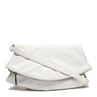 Co-Lab Women's NORA white 2 strap clutch