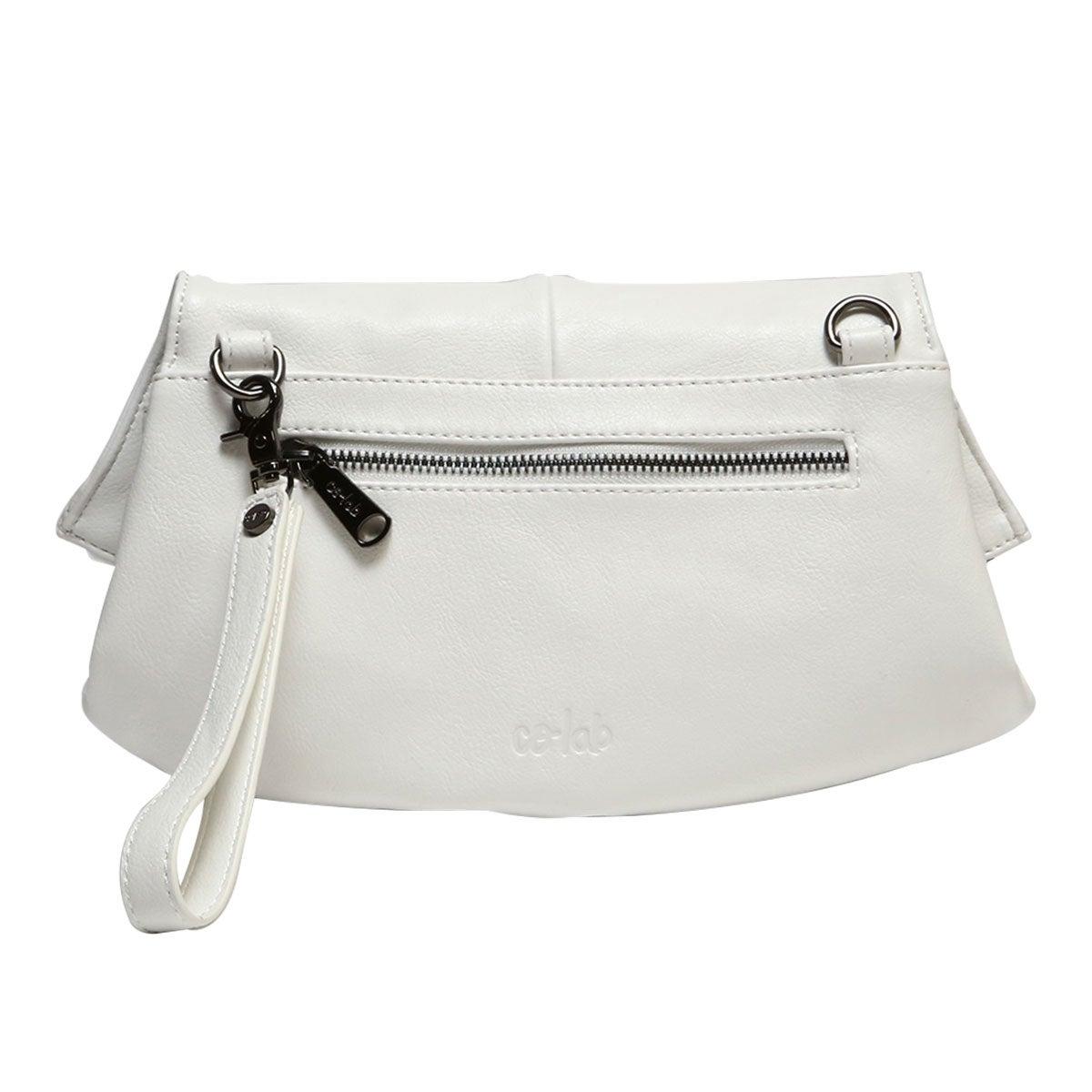 Lds Nora white 2 strap clutch