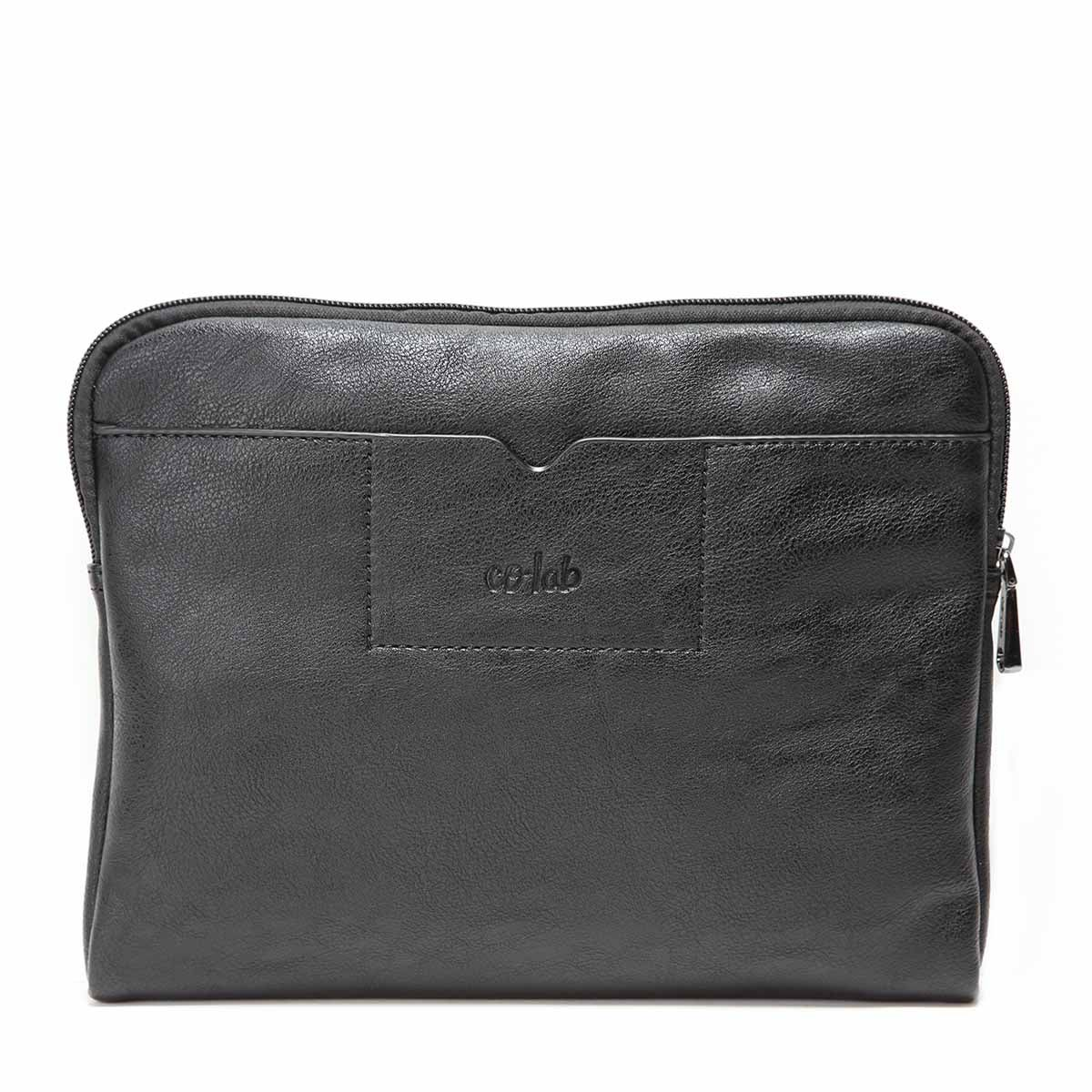 Unisex black smooth manmade Tablet Case