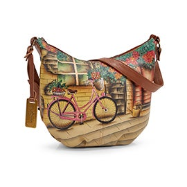 Painted lthr Vintage Bike med hobo bag