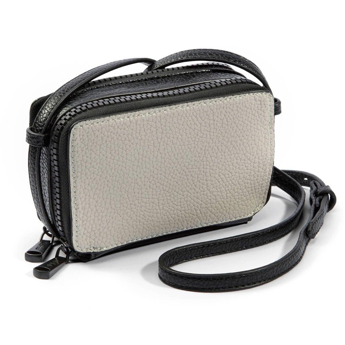 Lds Suzie blk/bone mini cross body bag