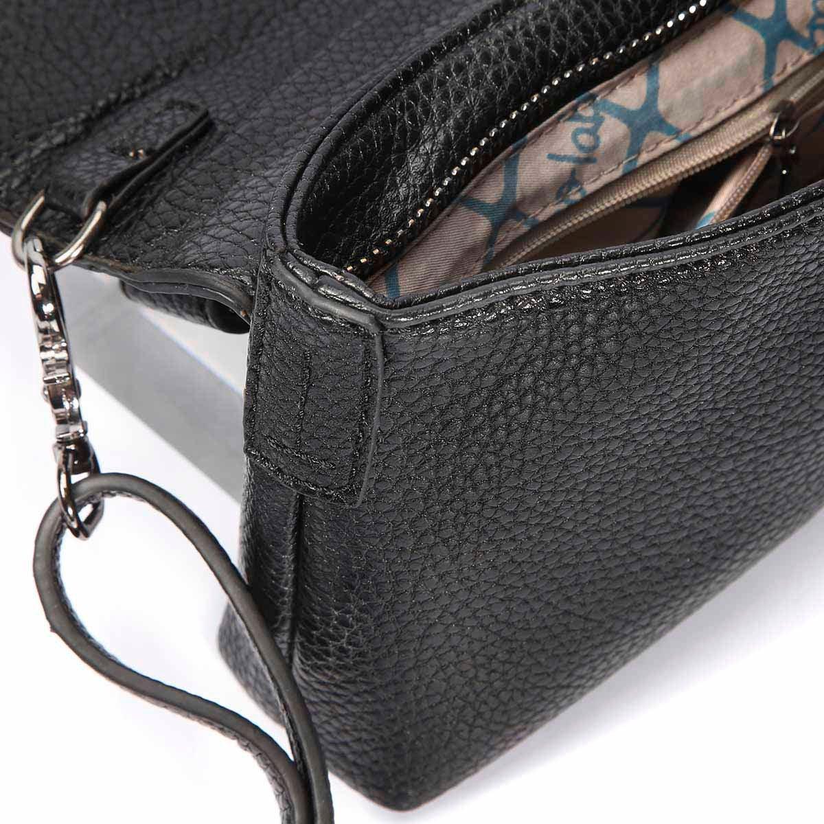 Lds Demi black mini cross body bag