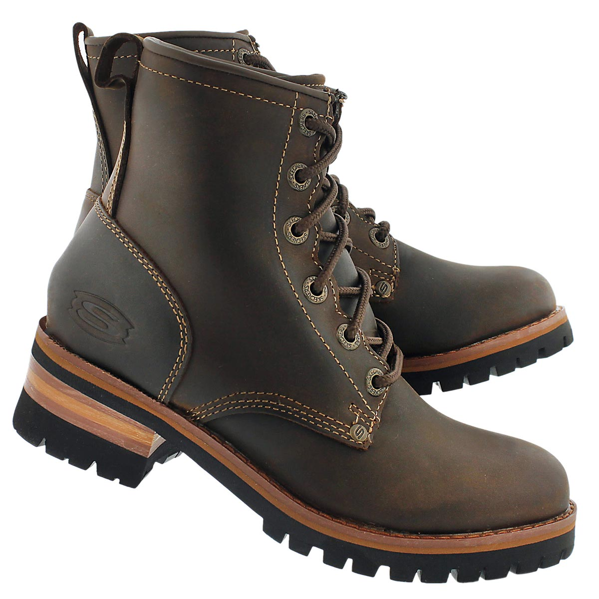 Lds Laramie 2 dk brn lace up casual boot
