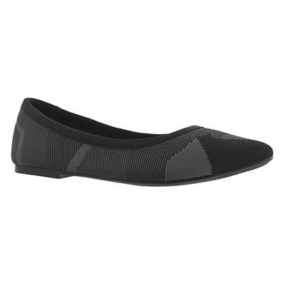 Lds Cleo Wham black casual flat