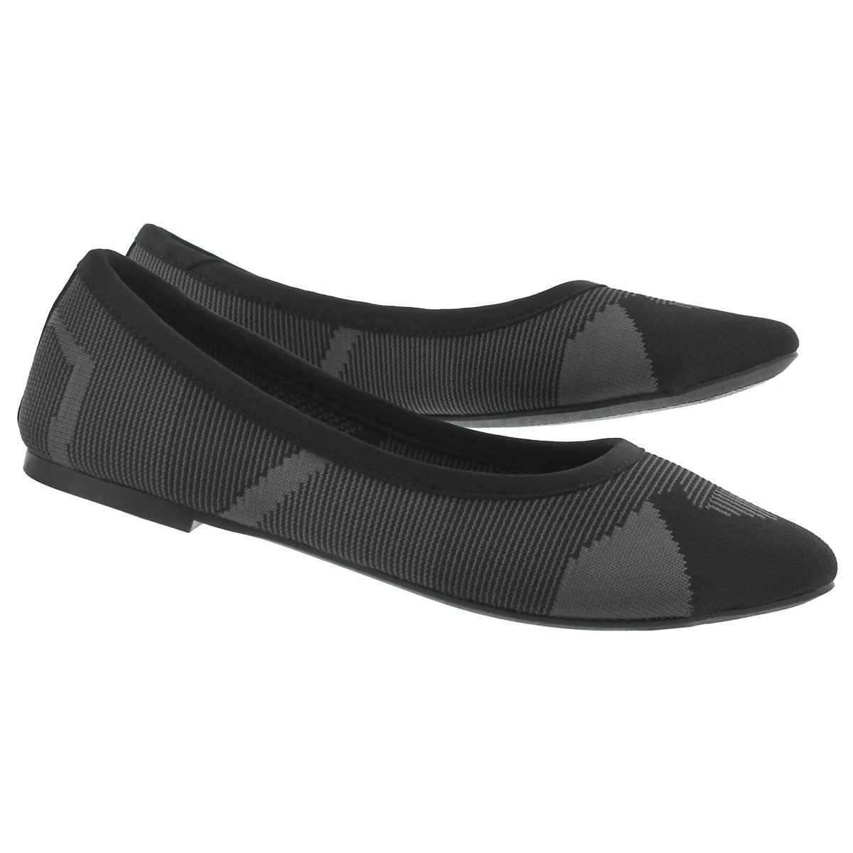 Lds Cleo Wham blk casual flat