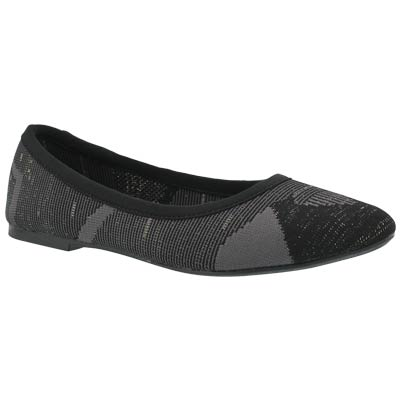 Lds Cleo Blitz black/grey casual flat