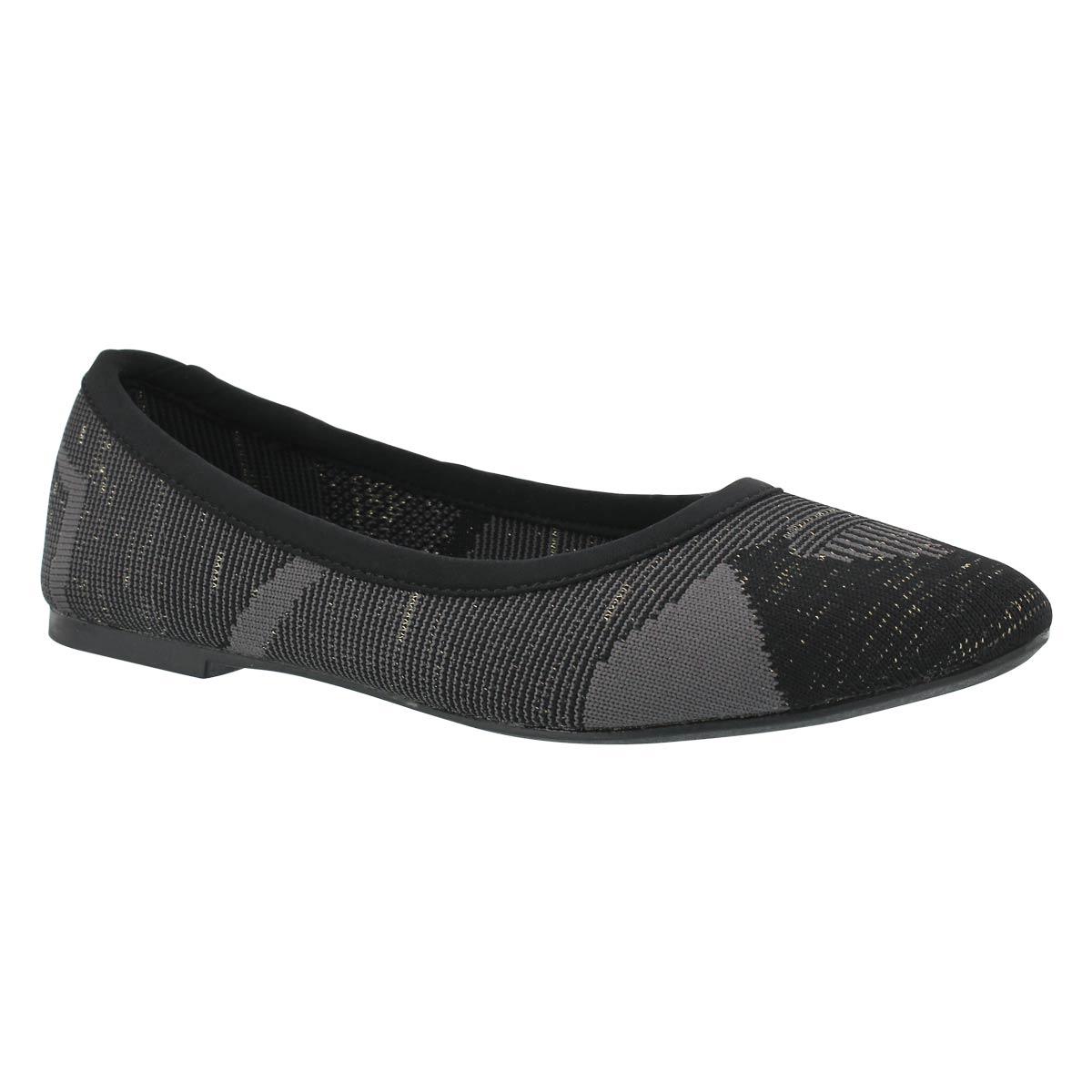 Women's CLEO BLITZ black/grey casual flats