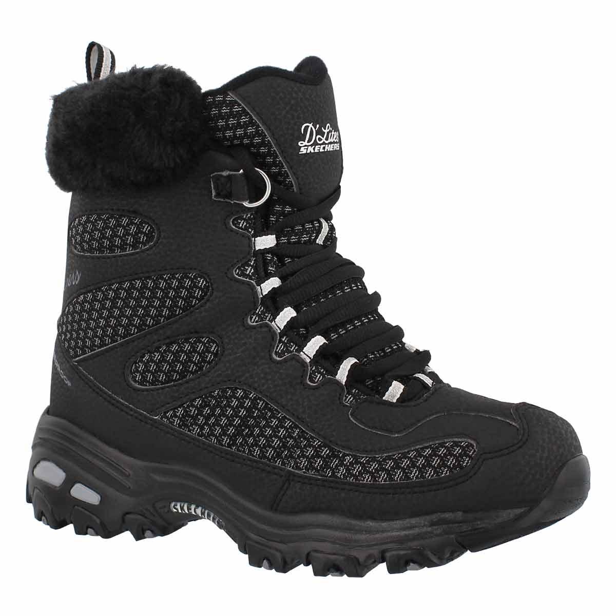 Women's D'LITES black lace up winter boots