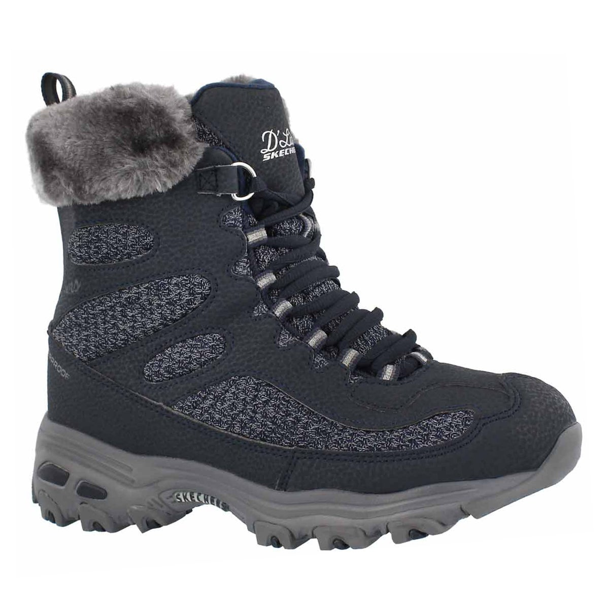Women's D'LITES navy wtpf lace up winter boots