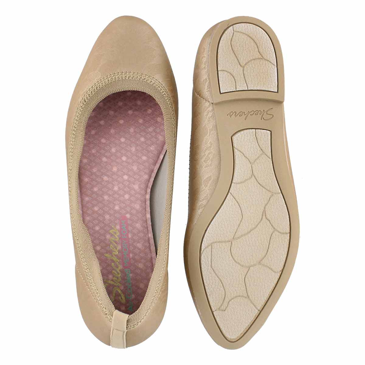 Lds Cleo Lace Place gold casual flat