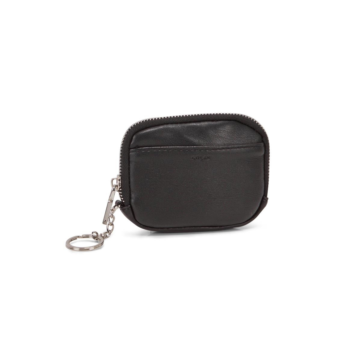Women's black zip up wallet
