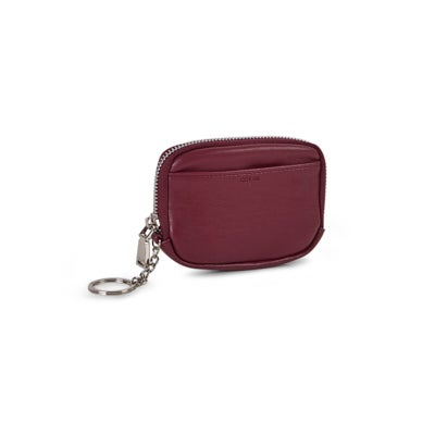 Co-Lab Women's ESSENTIALS berry zip up wallet