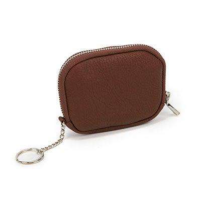 Co-Lab Women's cognac zip up wallet