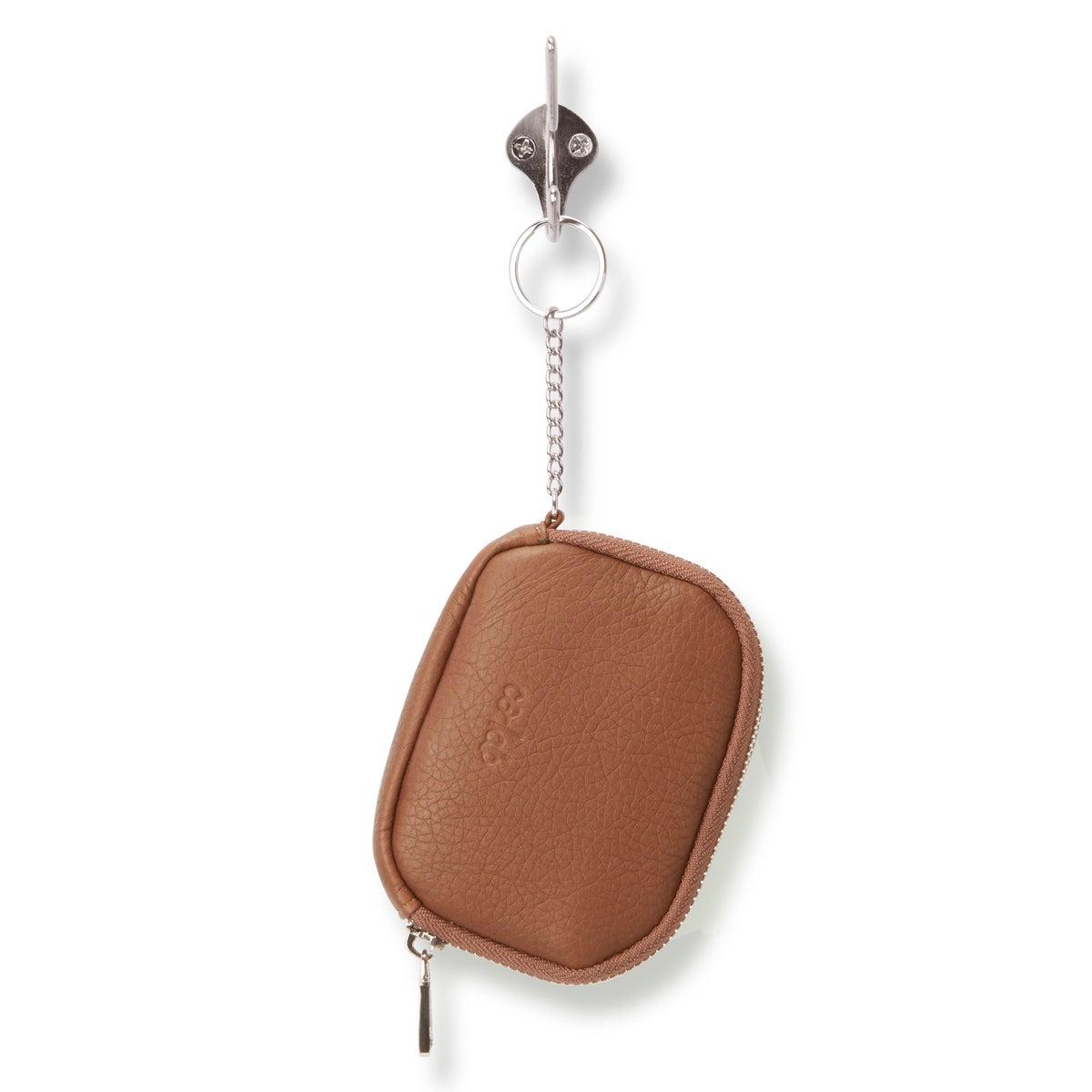 Lds cognac zip up wallet