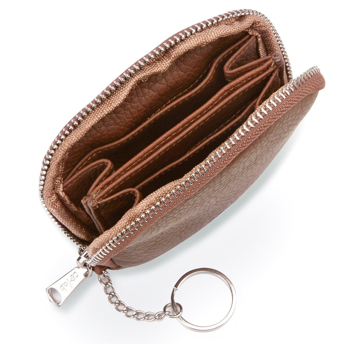 Porte-monnaie zippé 4888, cognac, femmes