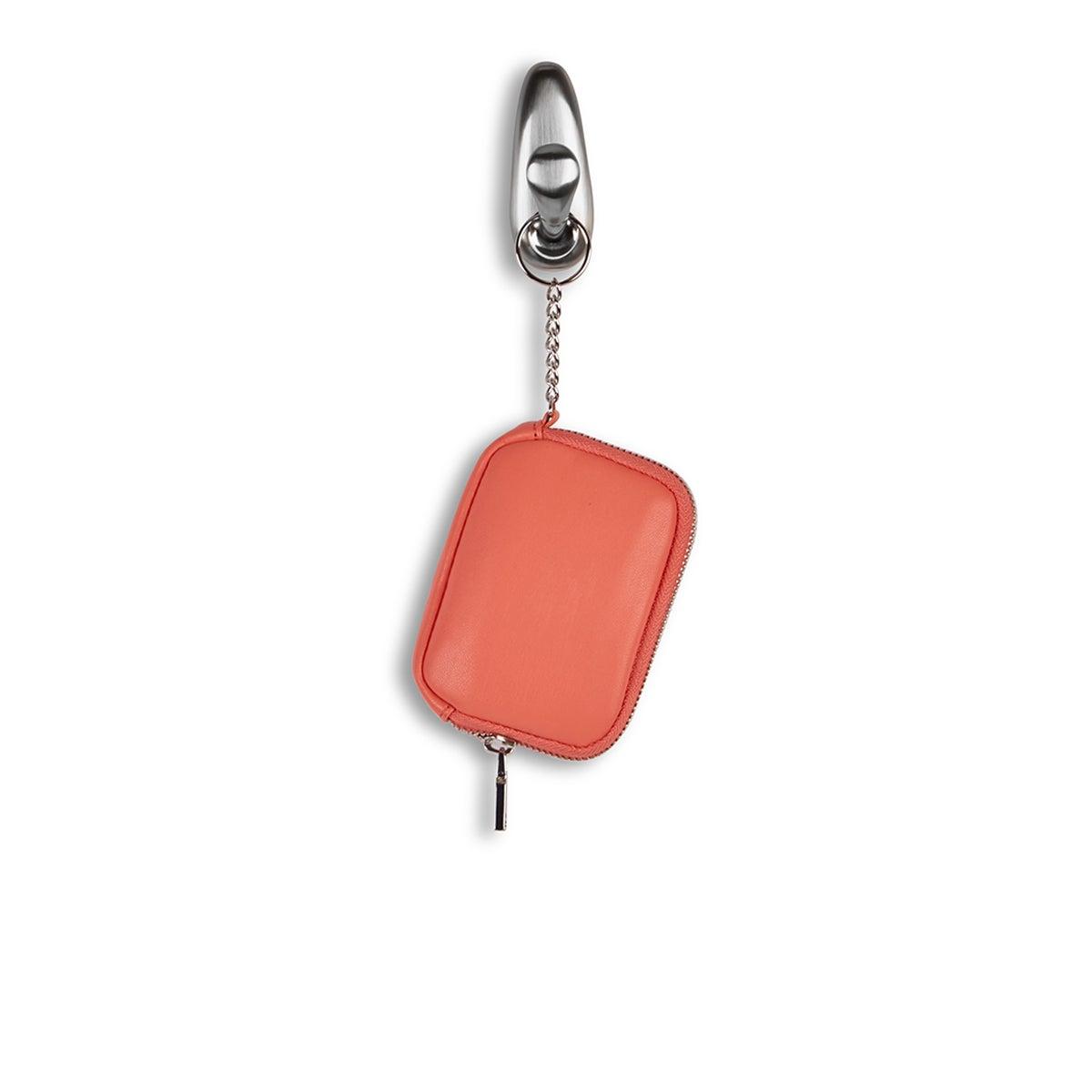 Lds coral zip up wallet