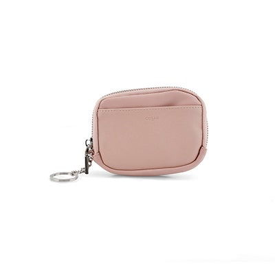 Co-Lab Women's cotton candy zip up wallet