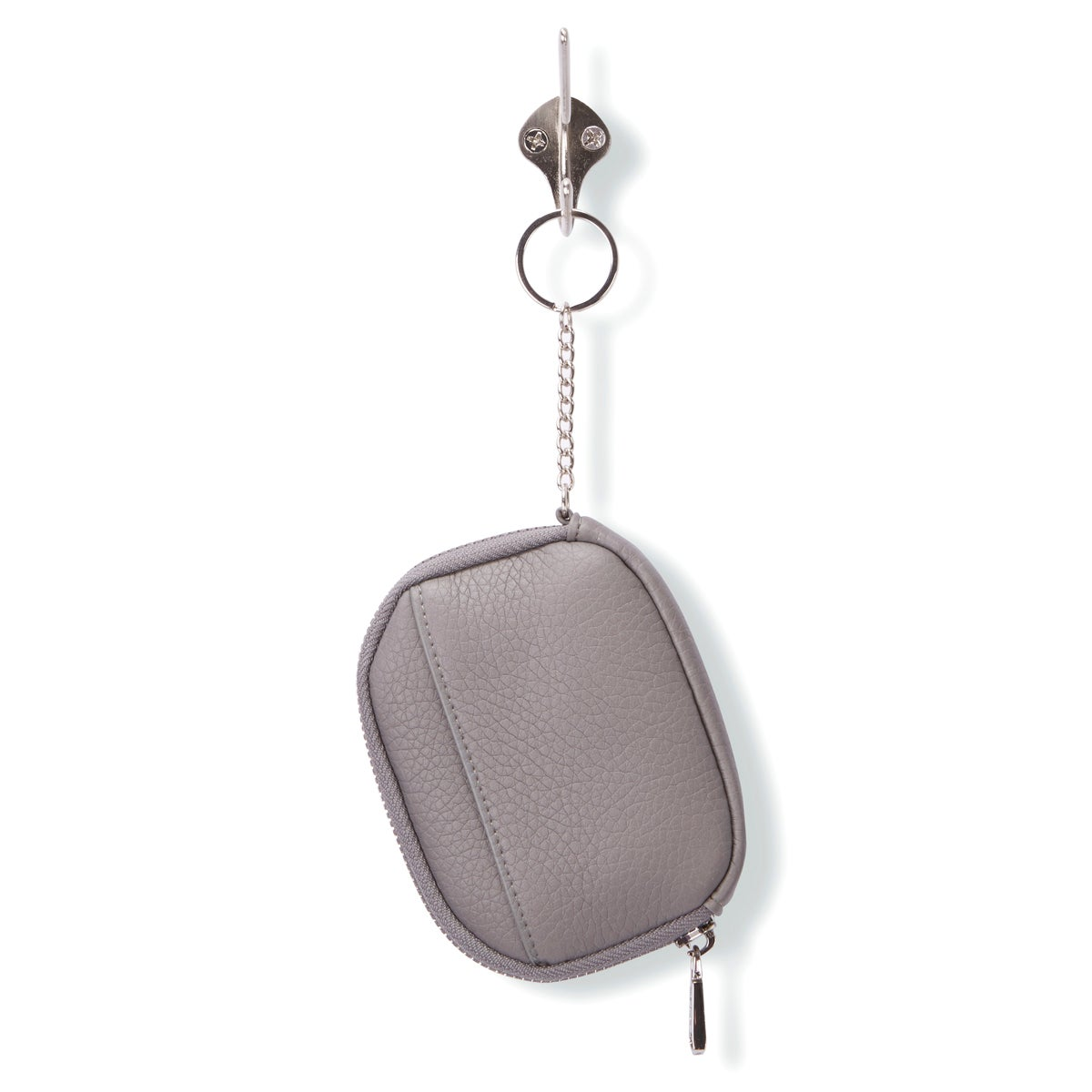Lds 4888 grey zip up wallet