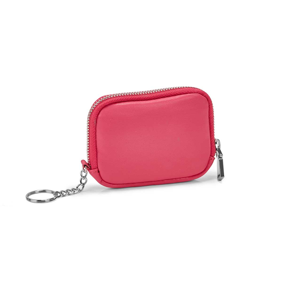 Women's hot pink zip up wallet