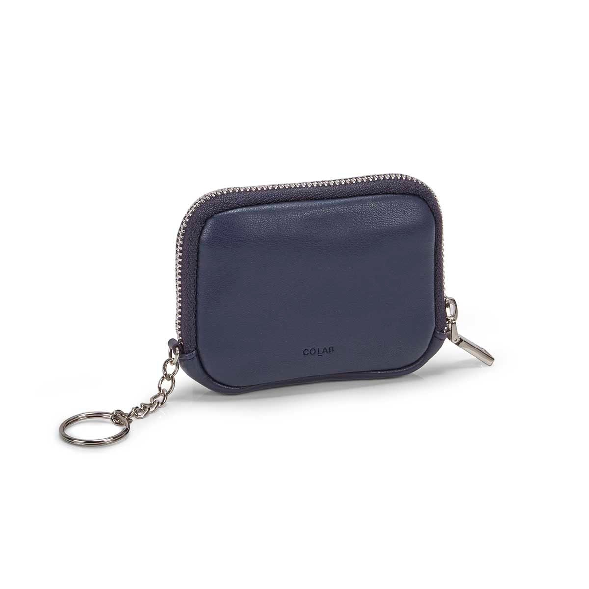 Women's ESSENTIALS ink blue zip up wallet