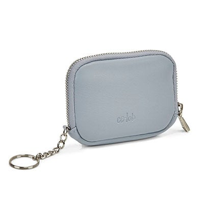 Lds light blue zip up wallet